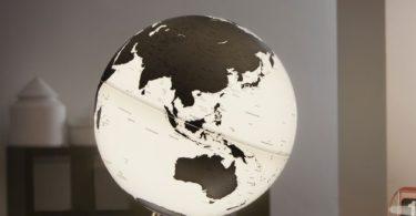 LIT CHARCOAL Globe