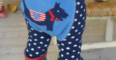 Scottie Dog Polka Dot Leggings and Heart Stripe Top Set