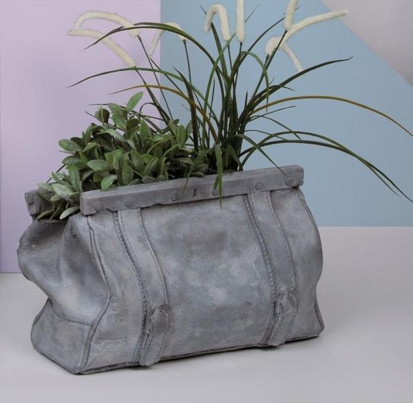 Concrete Sac Vase