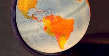Electric Illuminated Orion Relief World Globe