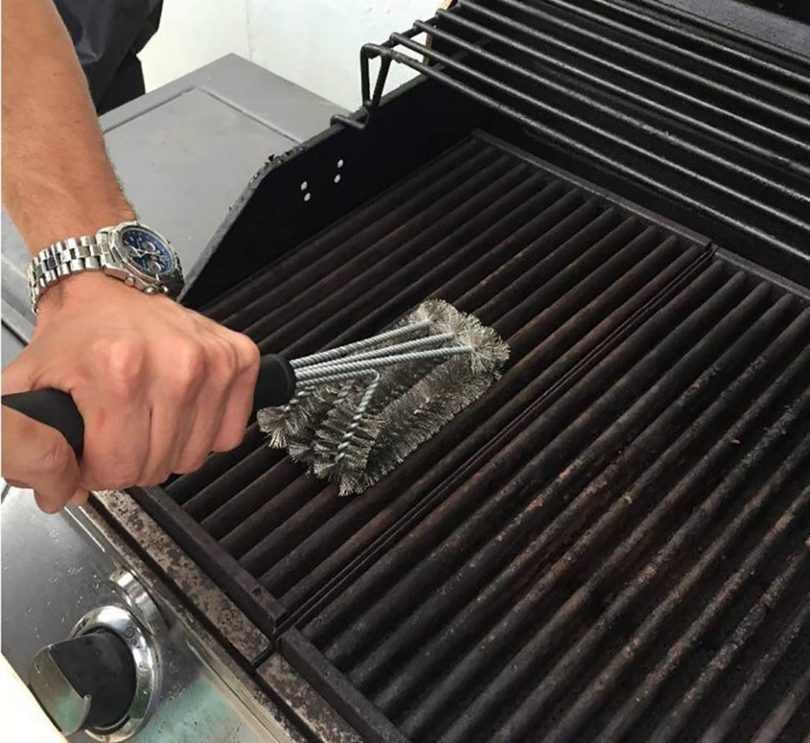 foya BBQ Grill Brush Stainless Steel 3-in -1