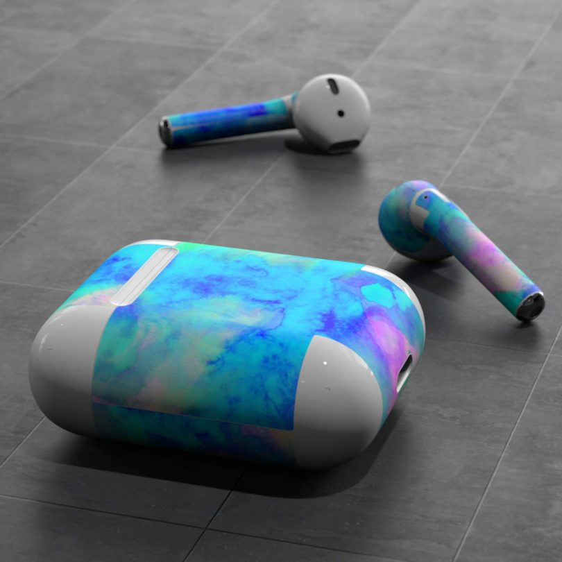 Skin Decals for Apple AirPods – Electrify Ice Blue