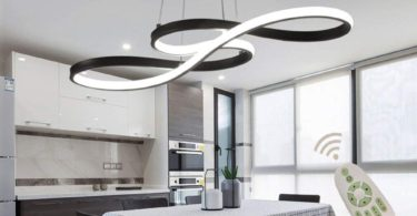 Modern LED Acrylic Chandelier Dining Room
