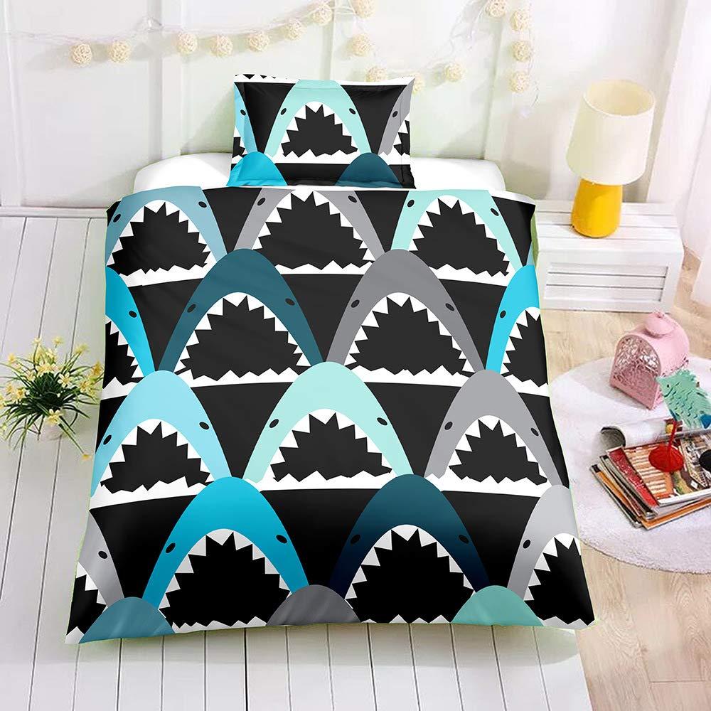 SDIII 3PC Shark Bedding Sets Ocean Themed