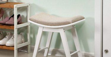 SONGMICS Vanity Modern Concave Seat