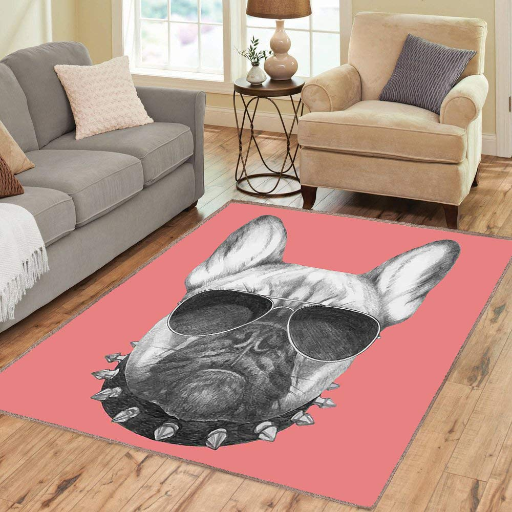 Floor Mat Rug, Bulldog