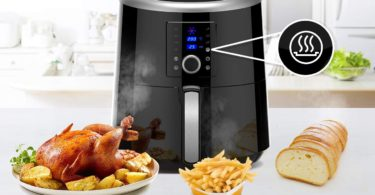 Digital XXL 5.8QT Air fryer with 7 Preset Cooking Functions