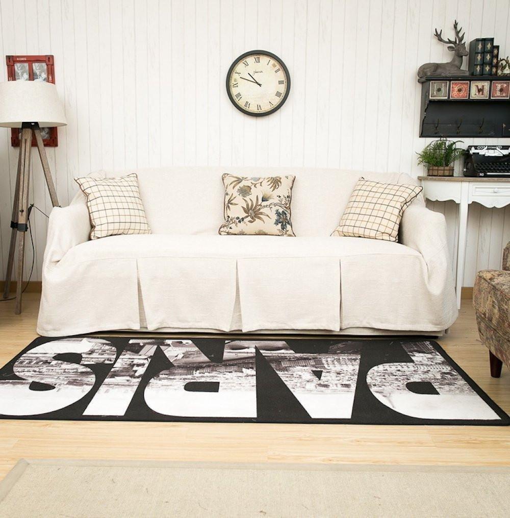 KARUILU home Sofa Cover 1 Piece Heavy Weight Fabric, Sofa Protector Slipcover