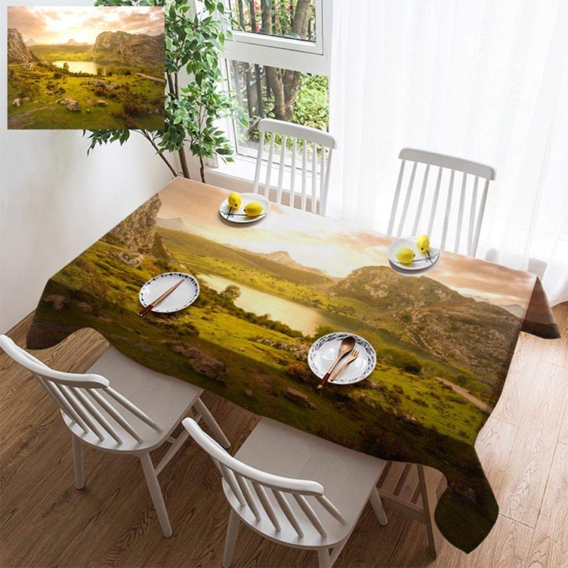 HOOMORE Simple Color Cotton Linen Tablecloth