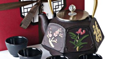 KIYOSHI Luxury Traditional Japanese Cast Iron Tea Set