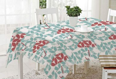 FashSam 3D Dinner Print Tablecloths Umbrella Pattern