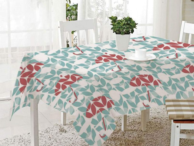 FashSam 3D Dinner Print Tablecloths Umbrella Pattern