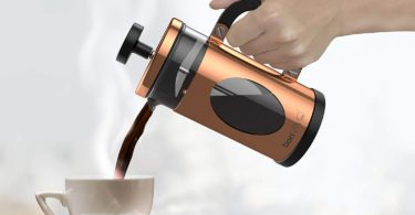 bonVIVO GAZEATARO I Design French Press Coffee Maker