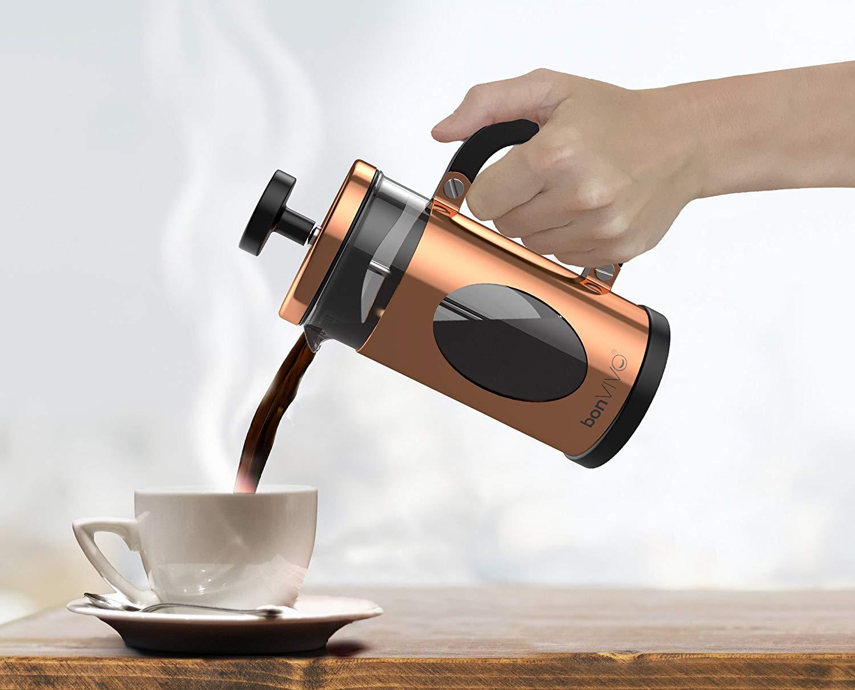 bonVIVO GAZEATARO I Design French Press Coffee Maker