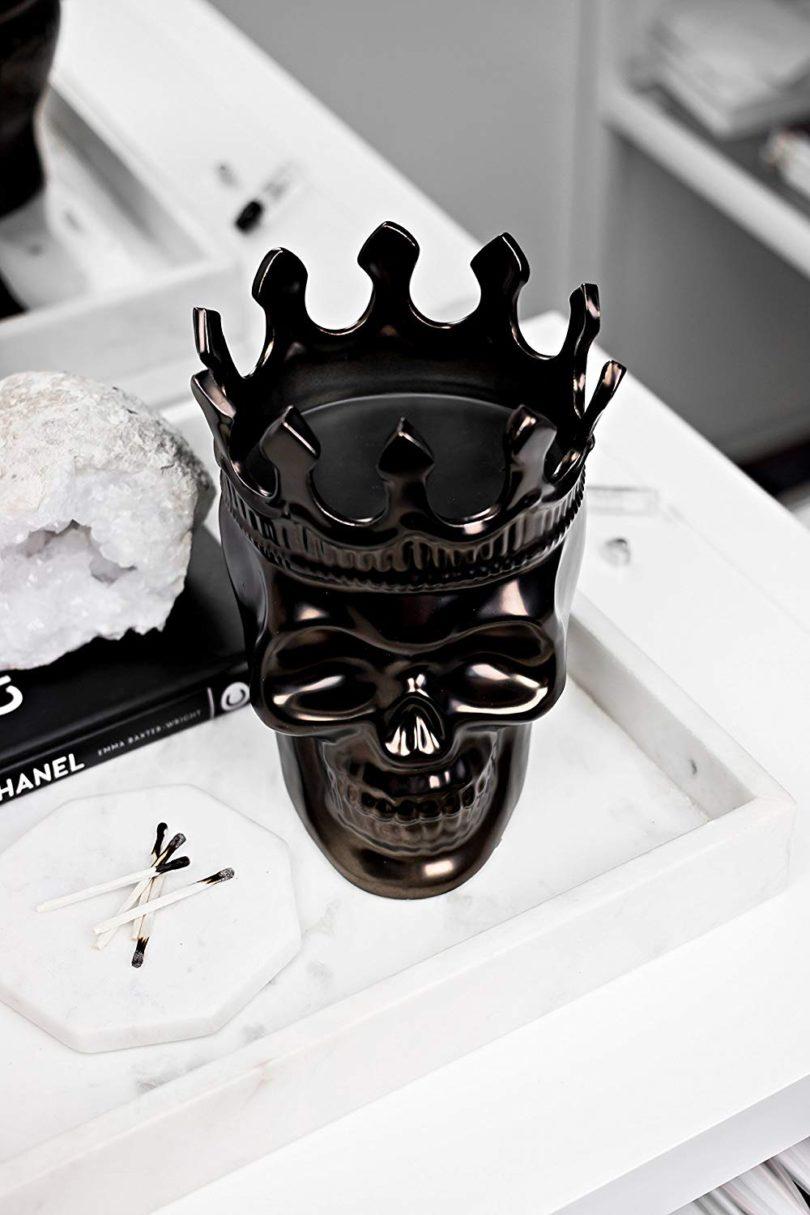 Gunmetal Monte-Cristo Scenteurs et Passion Alexandre Skull Candle