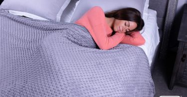 Dark Grey with Mink Cover Weighted Blanket