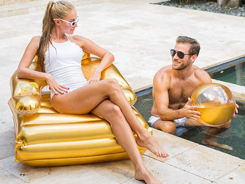 PoolCandy Gold Collection 2-in-1 Pool Lounger