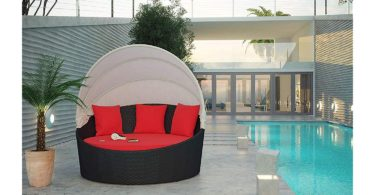 Siesta Canopy Outdoor Patio Daybed