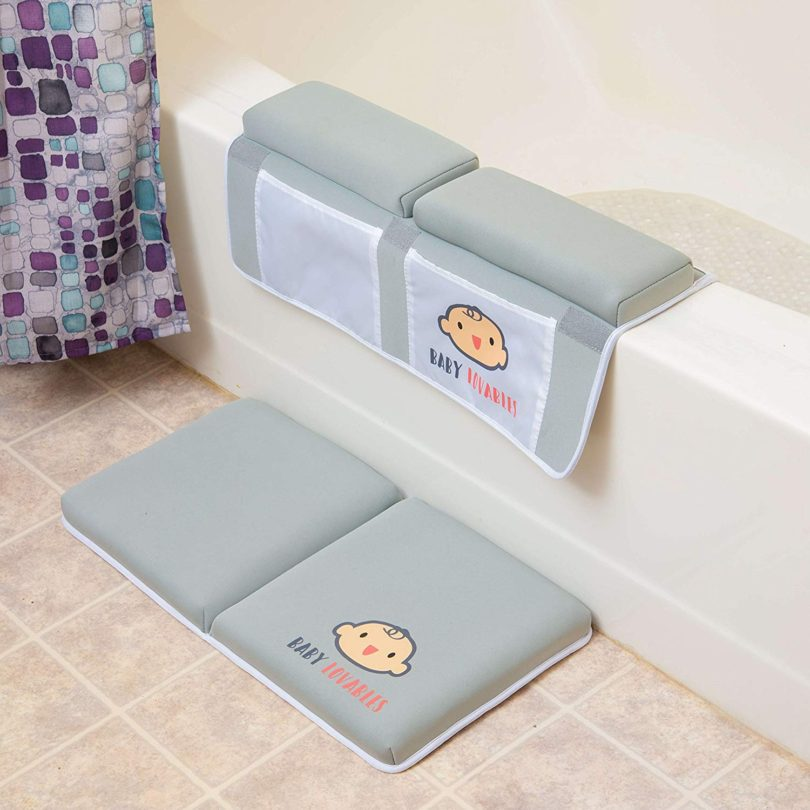 Bath Kneeler with Elbow pad Rest Set