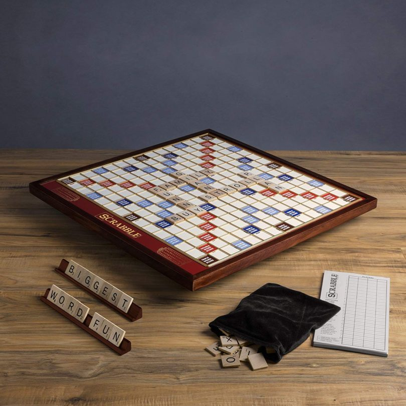 Scrabble Giant Deluxe Edition with Rotating Wooden Board