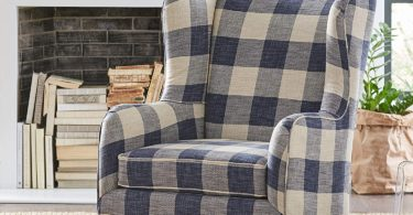 Stone & Beam Sadie Buffalo Check Wingback Chair