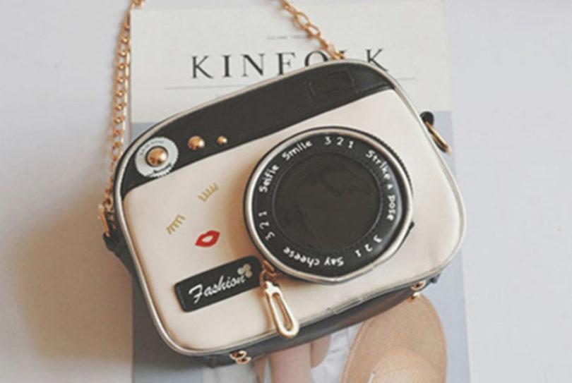 OURBAG Women Camera Shape Small Cute Long Shoulder Bag Handbag Messenger Bag