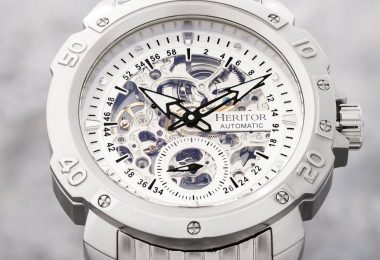 Heritor Automatic Conrad Skeleton Dial Bracelet Watch