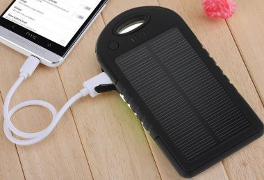 Portable Waterproof Solar Charger Dual USB External Battery Power Bank