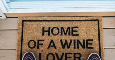 Home of a Wine Lover Brown Coir Doormat