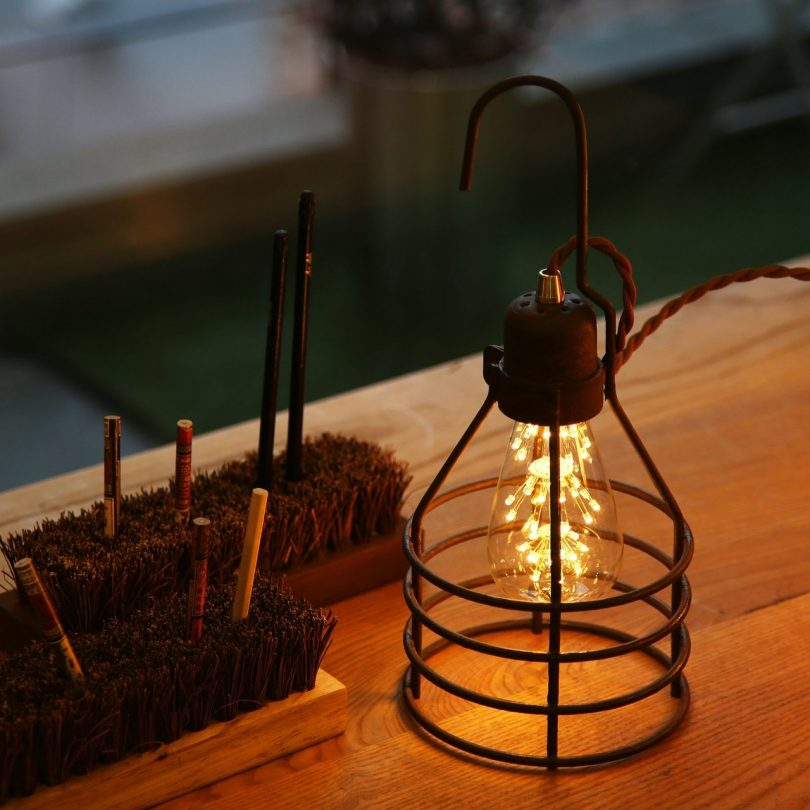 Vintage Iron Hanging Lamp