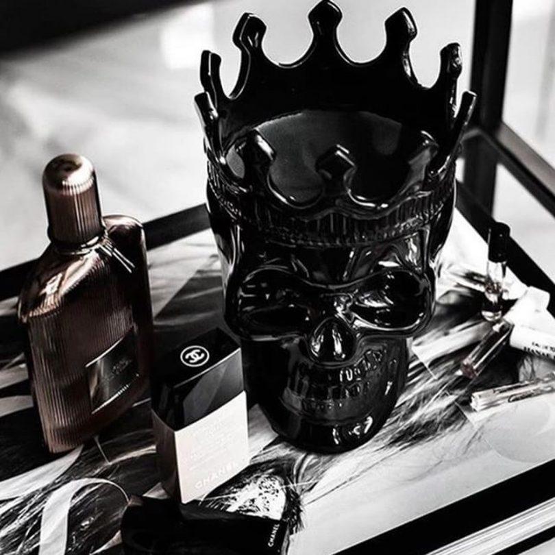 Black Monte-Cristo Secret Sucré Dantés Skull Candle