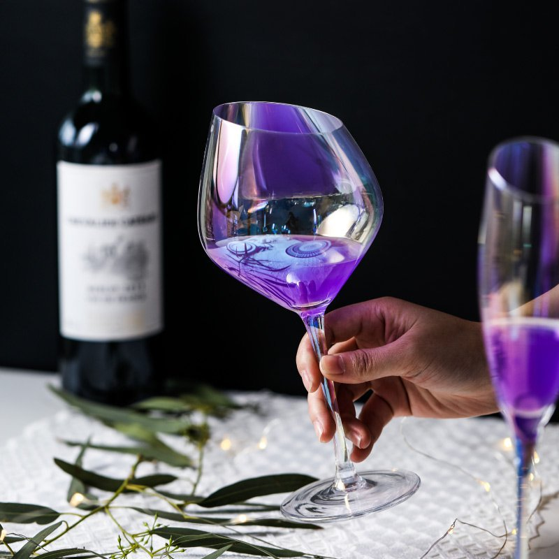Crystal redwine glass champagne glass