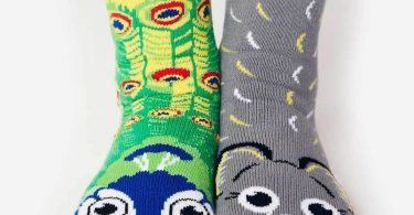 Peacock & Elephant Pals | Kids Collectible Mismatched Socks