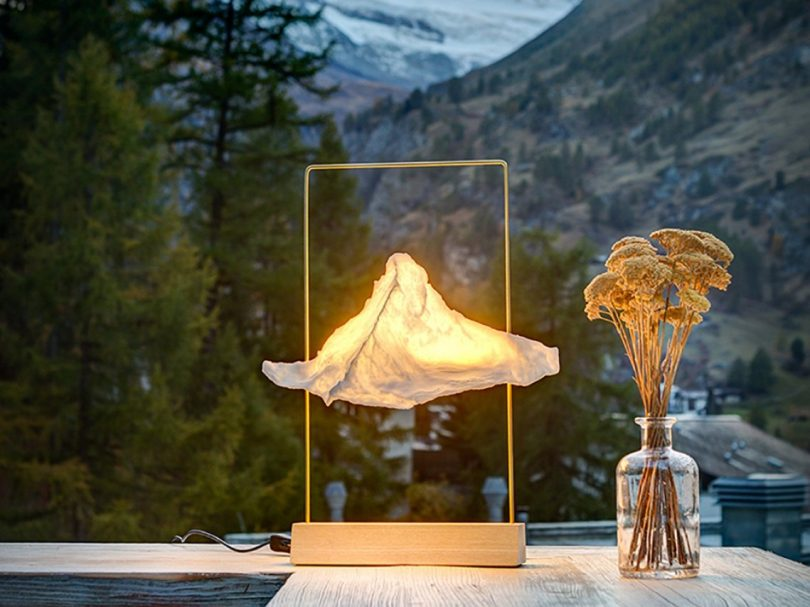 Large Matterlight Table Lamp in Brass & Ash by Boris Dennler