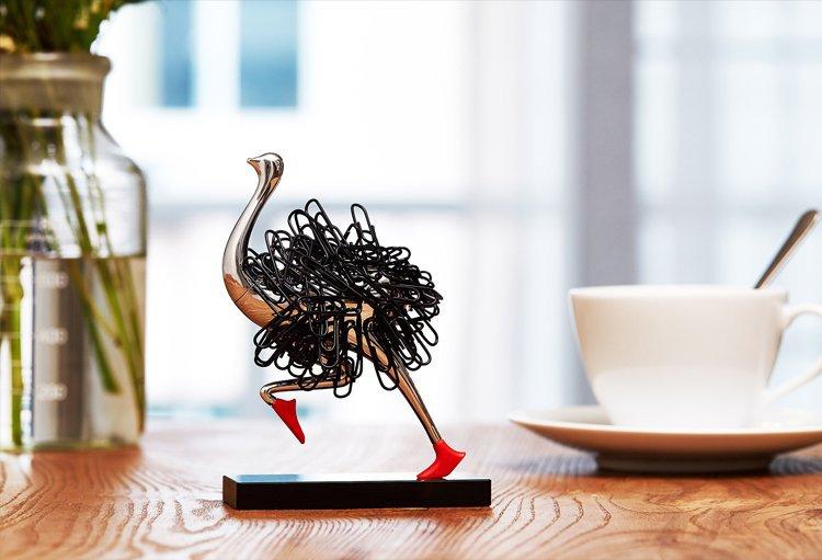 Running Ostrich Paper Clip Storage