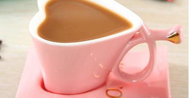 Heart Shaped Cute Ceramic Coffee Mug