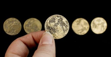 Harvest Moon Bundle – Set of 5 Brass Moon Coins
