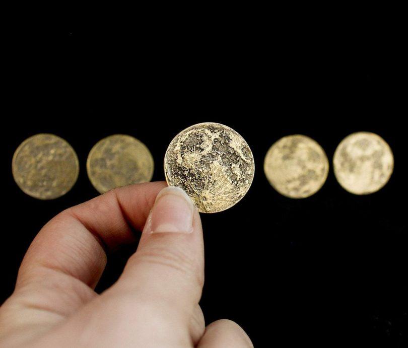 Harvest Moon Bundle – Set of 5 Brass Moon Coins