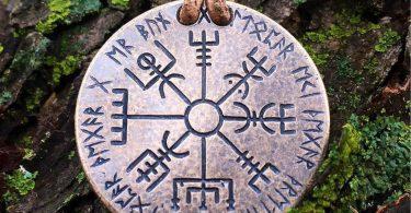 Vegvísir Norse Compass Bronze Necklace