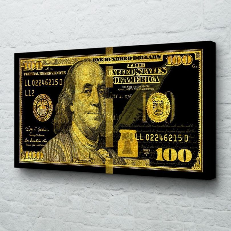 Big Benjamin Black Gold Edition Canvas Print