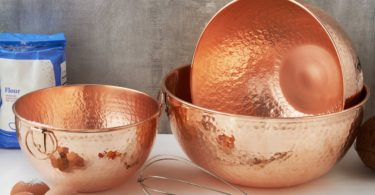 Solid Copper Beating Bowls Set