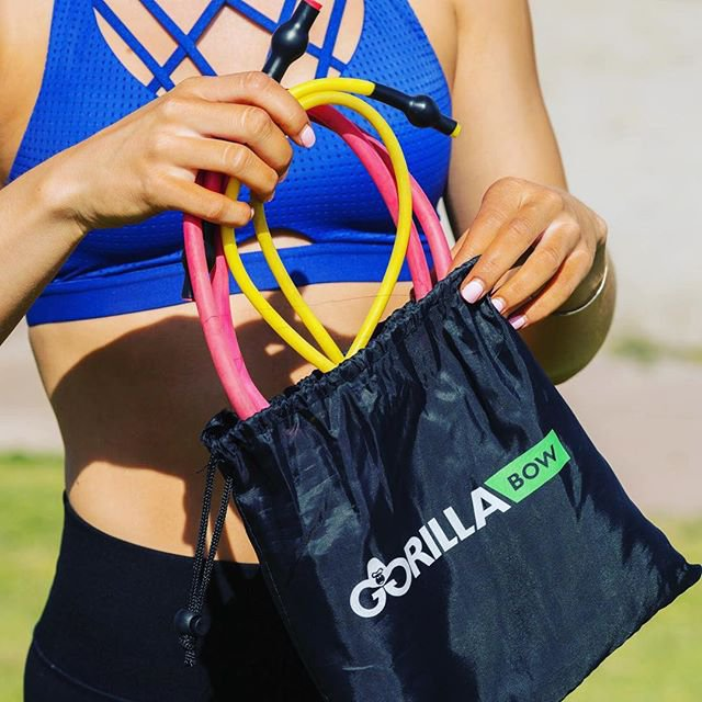 Band Kit for Gorilla Bow Workout with 4 Resistance Training Bands