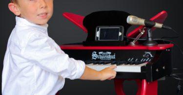Schoenhut Electronic Butterfly Piano 37-Key Red/Black