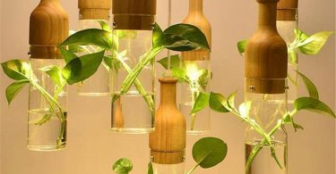 Wooden Led Plant Pendant Lights