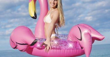 Glitter 48″ Jumbo Pink Flamingo Pool Tube