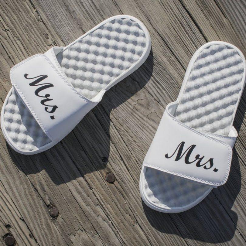 Mrs. Bride Slide Sandals