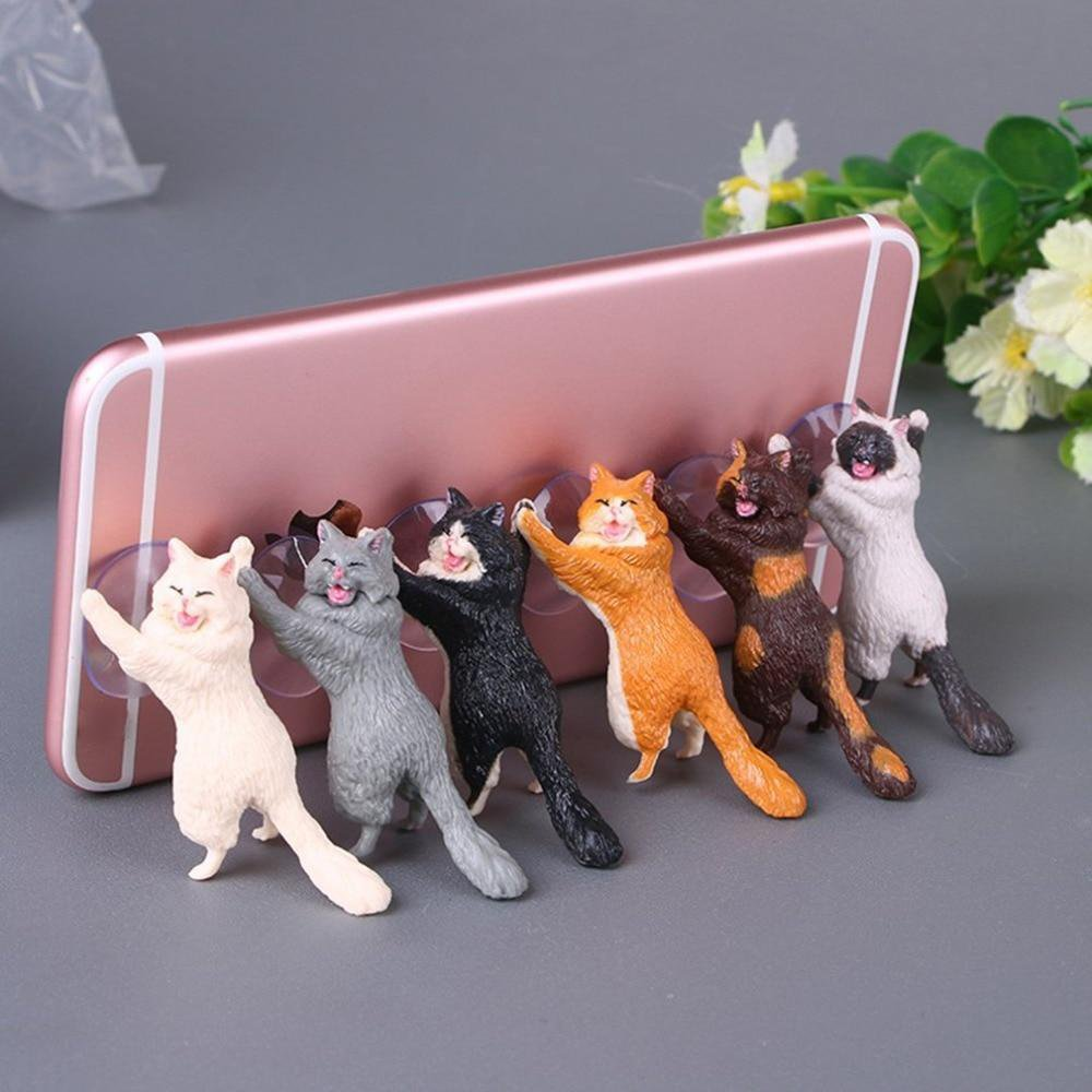 Cute Funny Cat Phone Holder Kickstand