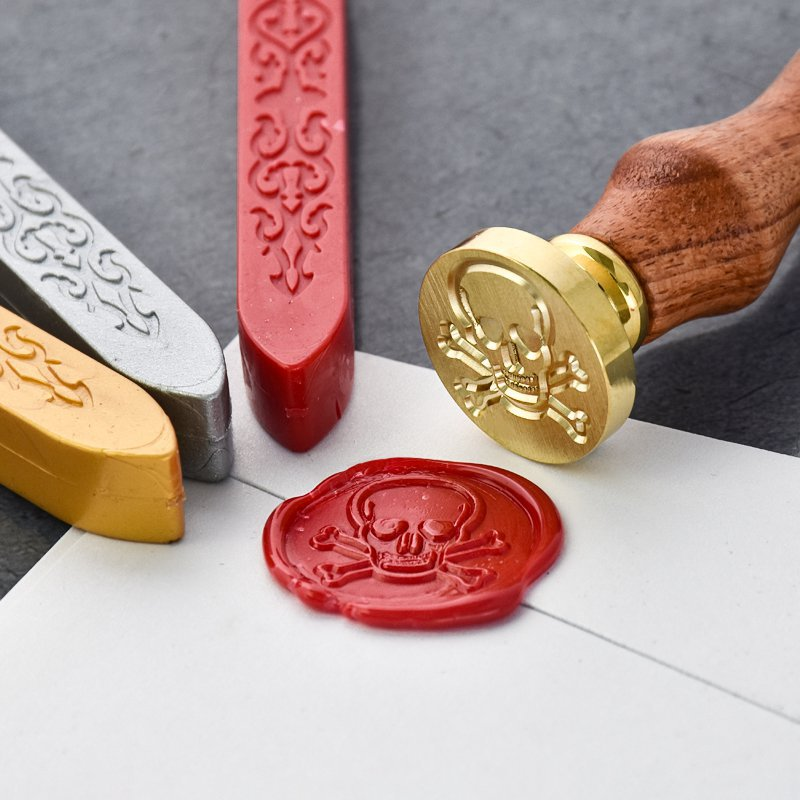 Drawing Skull and Crossbones Wax Seal