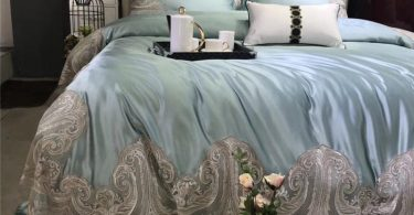 Light Blue Silk/Cotton Duvet Set
