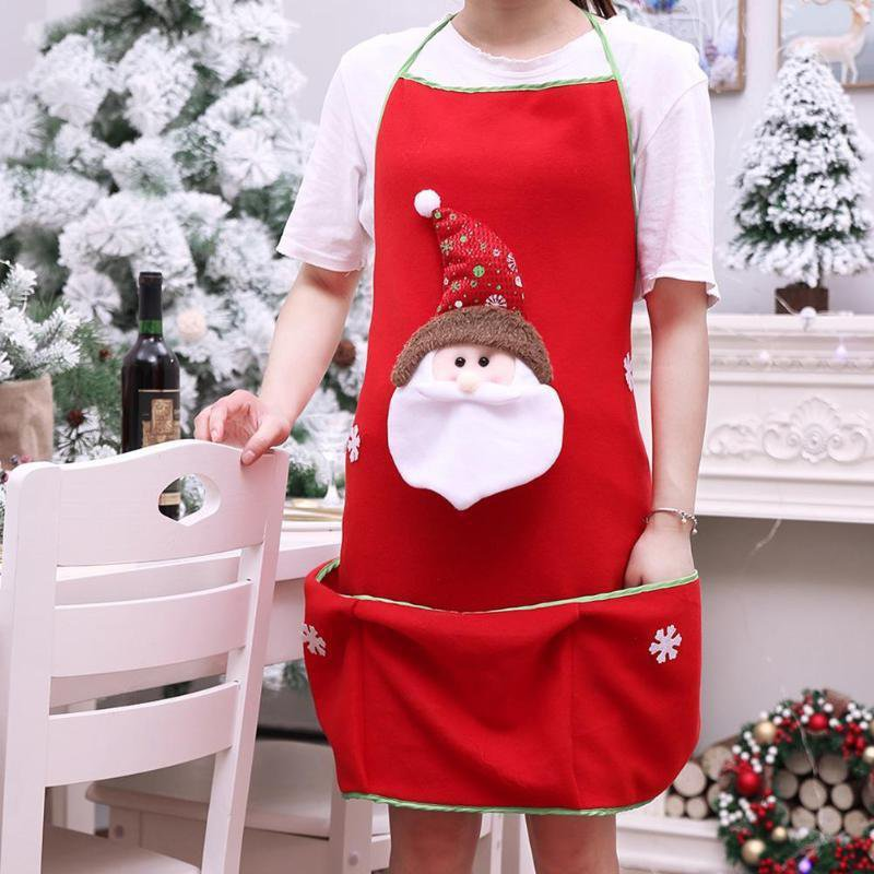 Santa Claus Snowman Kitchen Apron